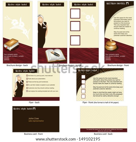 Hotel brochure stock images royalty free images vectors for Hotel brochure design templates