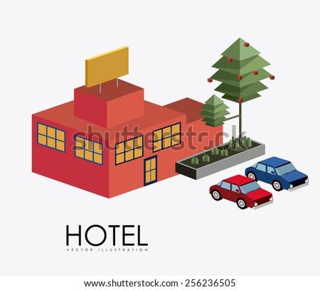 hotel, service design over white background, vector illustration - stock vector
