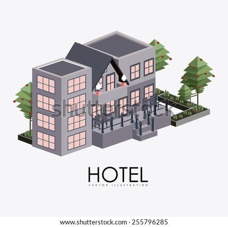 hotel, service desing over white background, vector illustration - stock vector