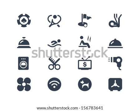 Hotel services icons - stock vector
