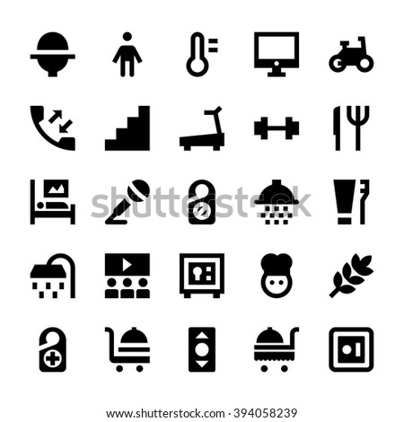Hotel Services Vector Icons 6 - stock vector