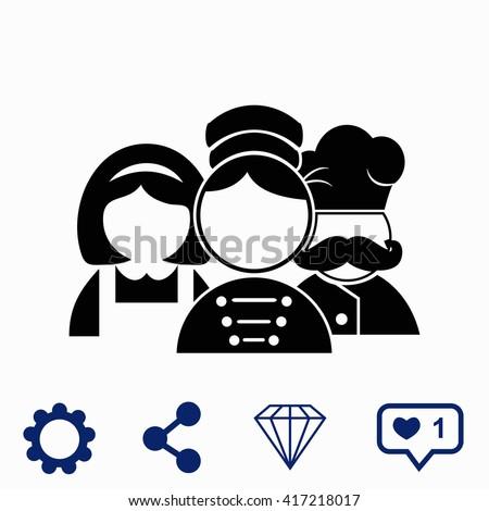 Hotel Staff Icon Stock Vector 417218017