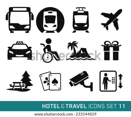 Hotel & Travel icons set // 11 - stock vector