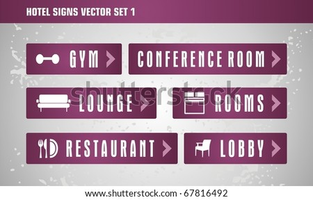 Hotels signs vector set part 1