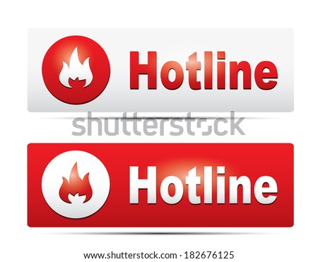 Hotline icons  - stock vector