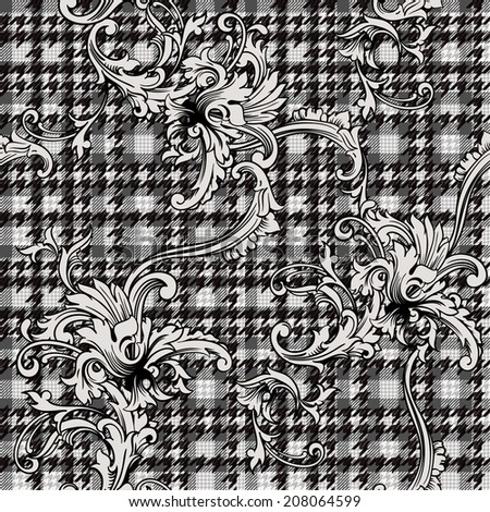 hounds-tooth seamless pattern