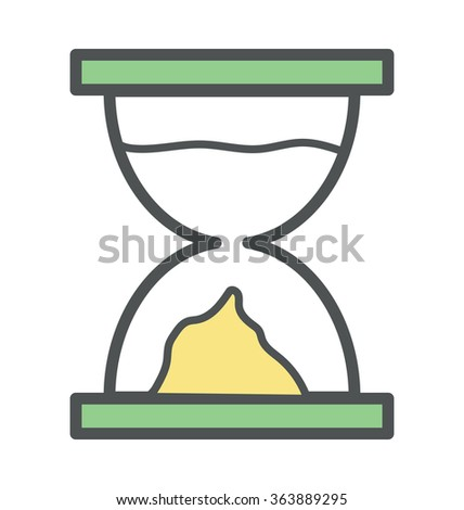 Hourglass Bold Icon Illustration