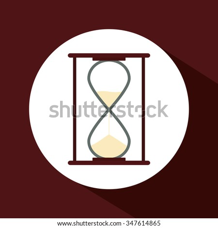 hourglass concept over circle design, vector illustration 10 eps graphic. - stock vector