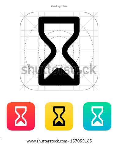 Hourglass ended icon. Vector illustration. - stock vector