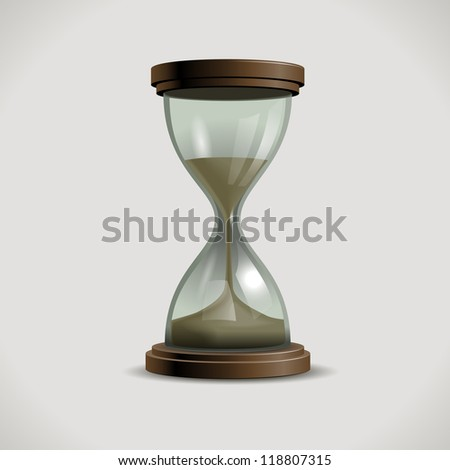 Hourglass, eps10 vector - stock vector