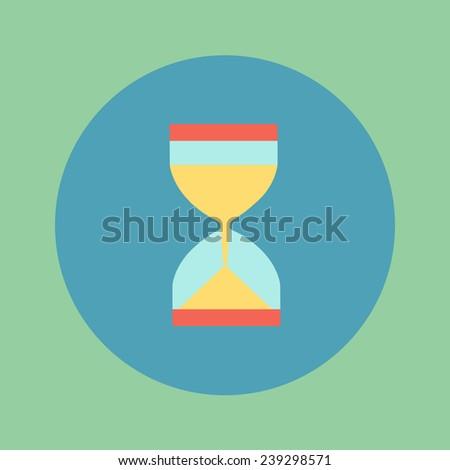 Hourglass flat icon - stock vector