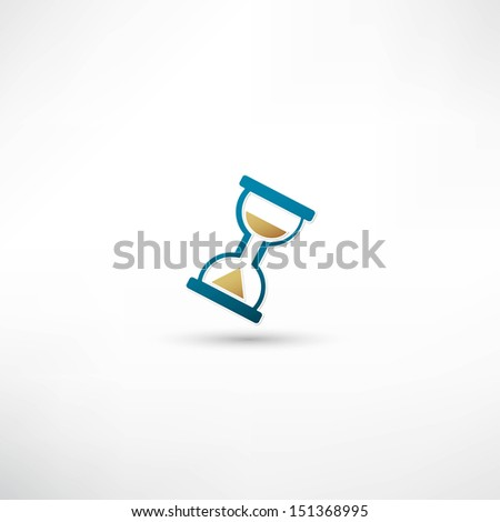 Hourglass icon - stock vector