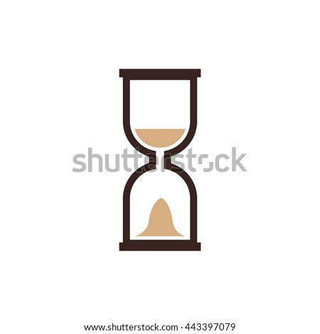 hourglass icon and logo vector brown color