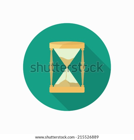 hourglass icon illustration - stock vector