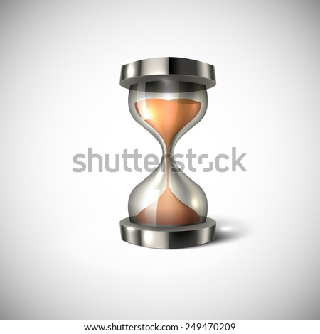 Hourglass icon isolated on white background. 3d style vector illustration. - stock vector