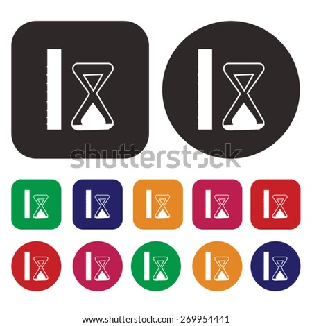 Hourglass icon. sandglass icons. Vector - stock vector