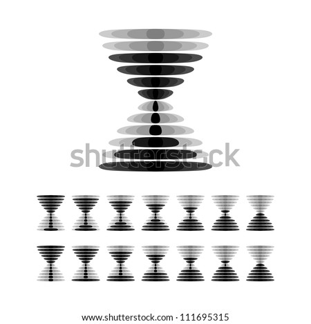 Hourglass icon (vector version) - stock vector