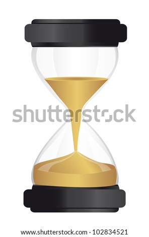 hourglass isolated over white background. vector illustration - stock vector