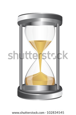 hourglass isolated over white background. vector illustration