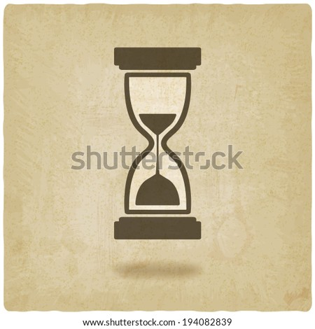hourglass old background - vector illustration. eps 10 - stock vector