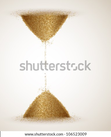 Hourglass or the infinity of time. Eps 10 - stock vector