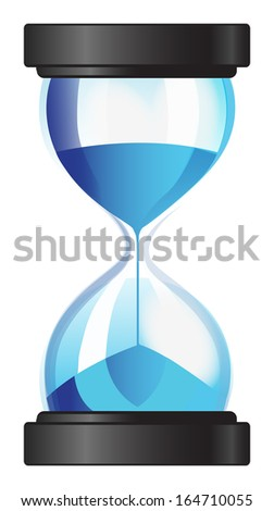 Hourglass sand clock - stock vector