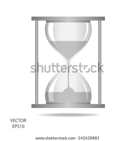 hourglass, sand glass, sand timer, sand clock isolated on the white background,vector - stock vector