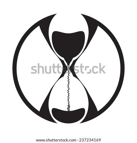 Hourglass, Sand Glass. Vector Illustration - stock vector