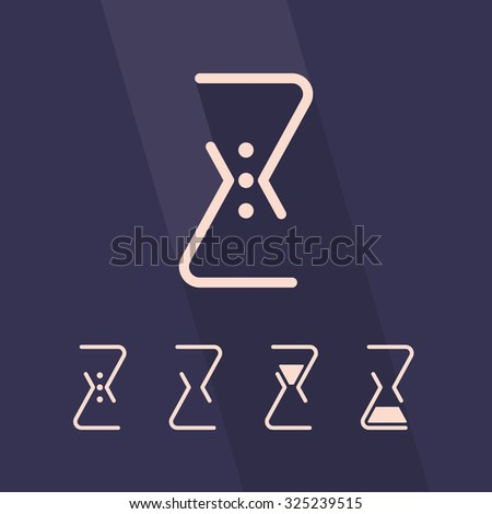 Hourglass, sandglass vector icons, icon for webdesign, time logo - stock vector
