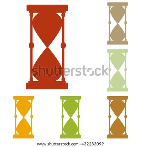 Hourglass sign illustration