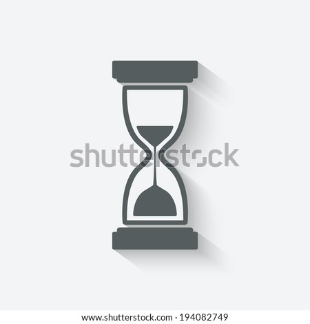 hourglass symbol - vector illustration. eps 10 - stock vector