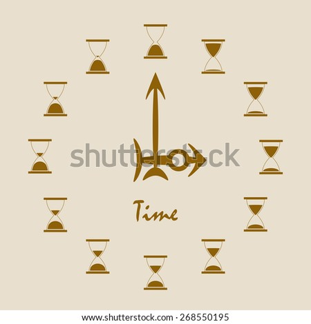 Hourglass time - stock vector