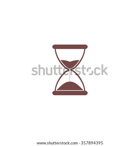 Hourglass time. Colorful vector icon. Simple retro color modern illustration pictogram. Collection concept symbol for infographic project and logo
