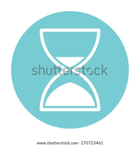 Hourglass time icon - stock vector