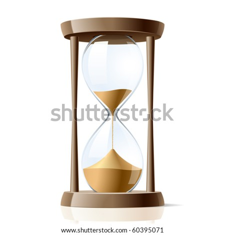 Hourglass. Vector. - stock vector