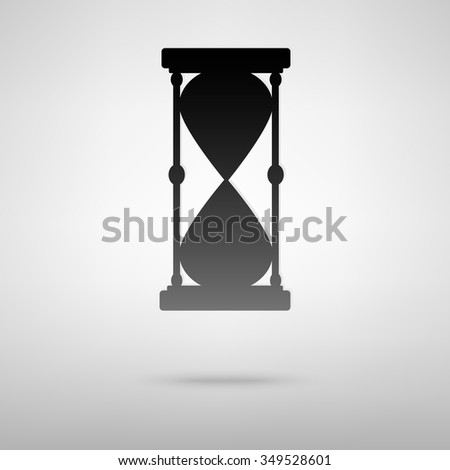 Hourglass. Vector black silhouette.