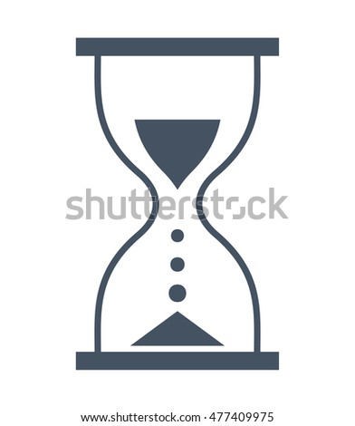 Hourglass - Vector icon isolated