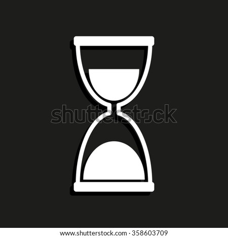 Hourglass -  vector icon with shadow
