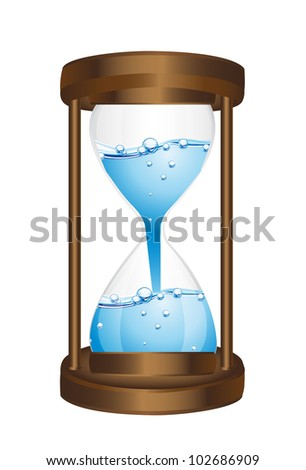 hourglass with water isolated over white background. vector