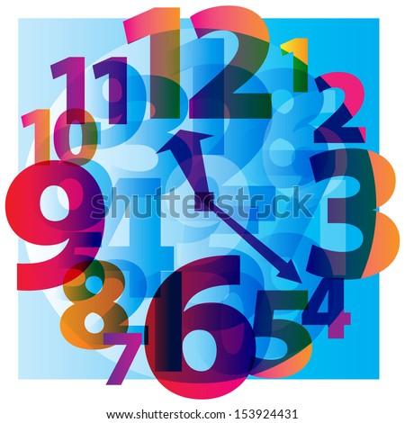 Hours alarm clock arrow time. Vector illustration - stock vector