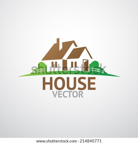 House abstract real estate - stock vector