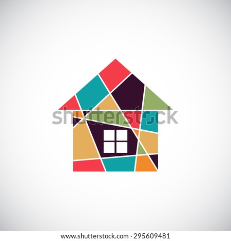 House abstract real estate vector background. Realty theme icon. - stock vector