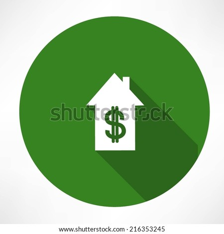 House and dollar - stock vector
