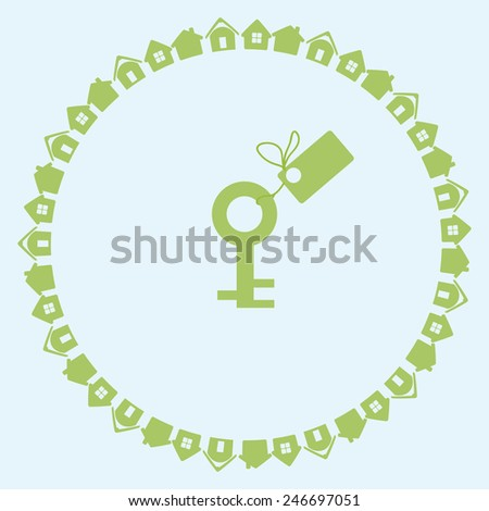 House and key concept. New house sale - stock vector