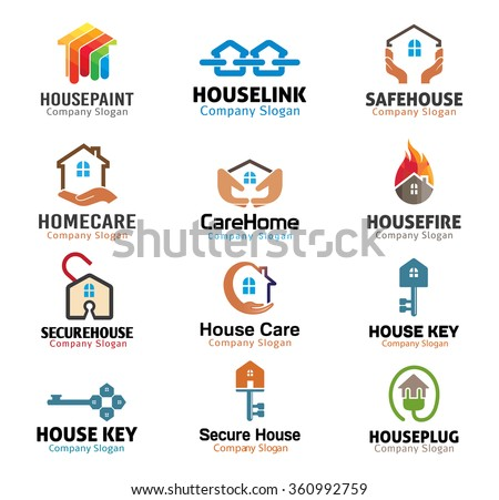 House and security Real Estate Design Illustration - stock vector