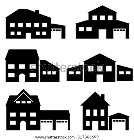 House, architecture and real estate icon set
