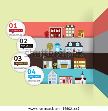 House Banner Infographic - stock vector