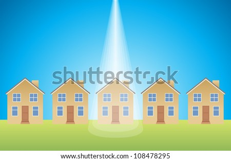 House beamed with light from above.