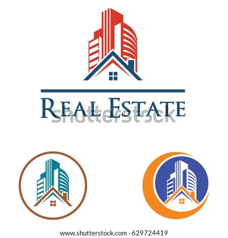 Real Estate Mortgage Logo Stock Vector 732811423 - Shutterstock