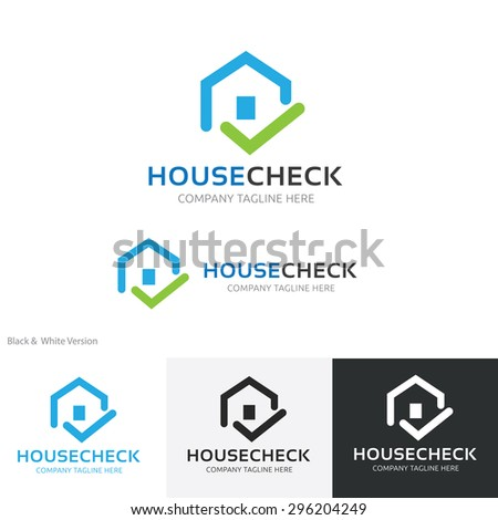House  Building  Real Estate Vector Logo Template  - stock vector